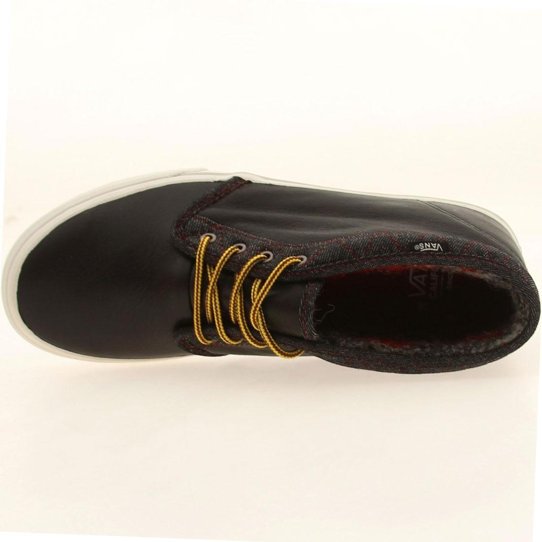 Vans Men Chukka Boot Ca Leather And Denim (black)
