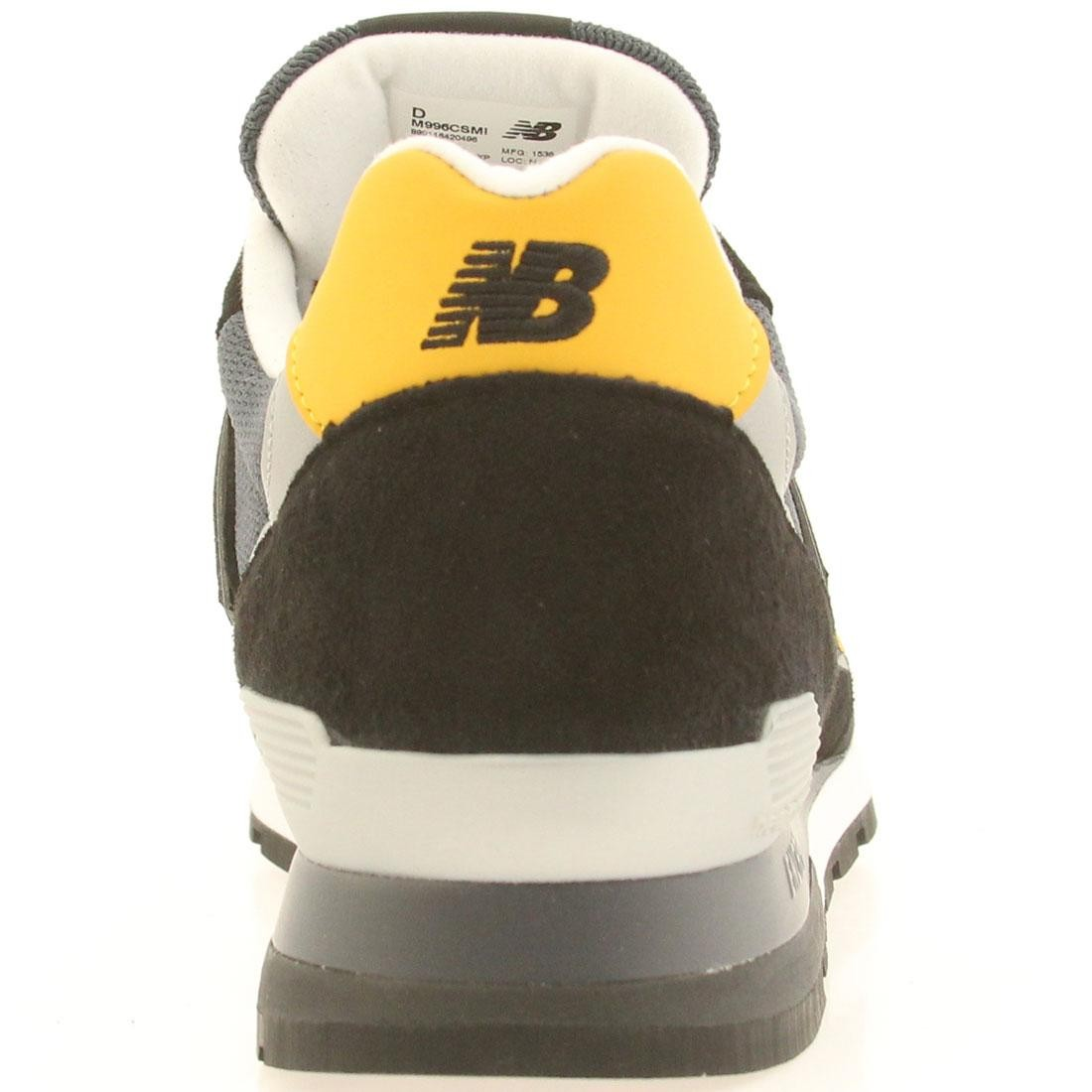 sports shoes 87c66 30255 New Balance Men 996 Connoisseur Ski M996CSMI - Made In USA (black   yellow    silver)