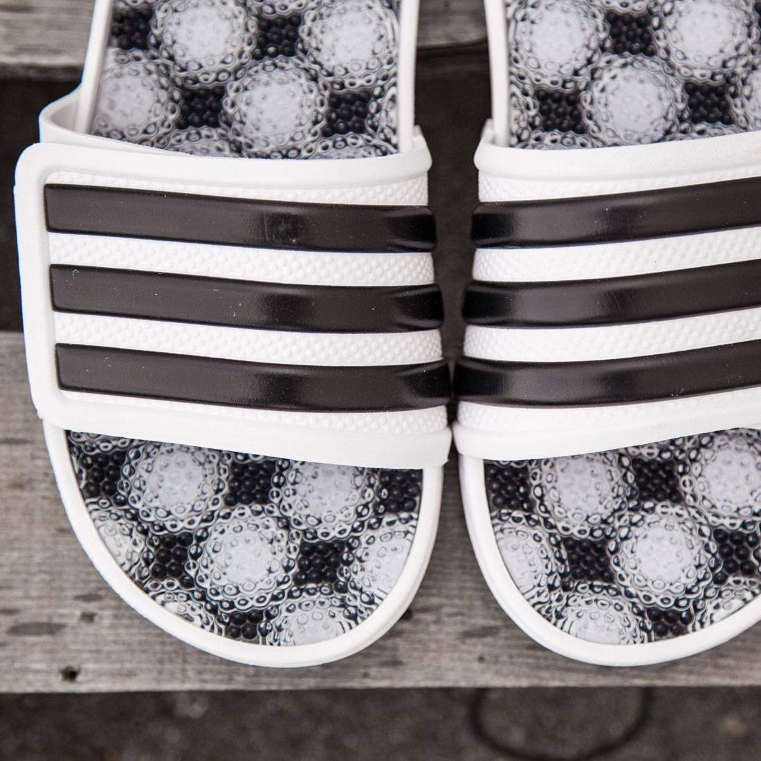 5ce88520c Adidas Men Adissage 2.0 3-Stripes Slides (white   core black   footwear  white)