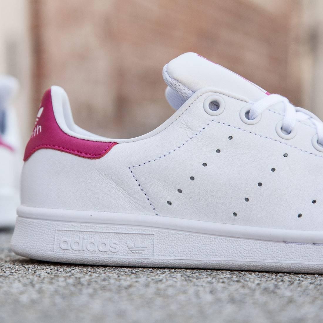 sports shoes 3b0dc 0b462 Adidas Big Kids Stan Smith (white/ footwear white / bold pink)