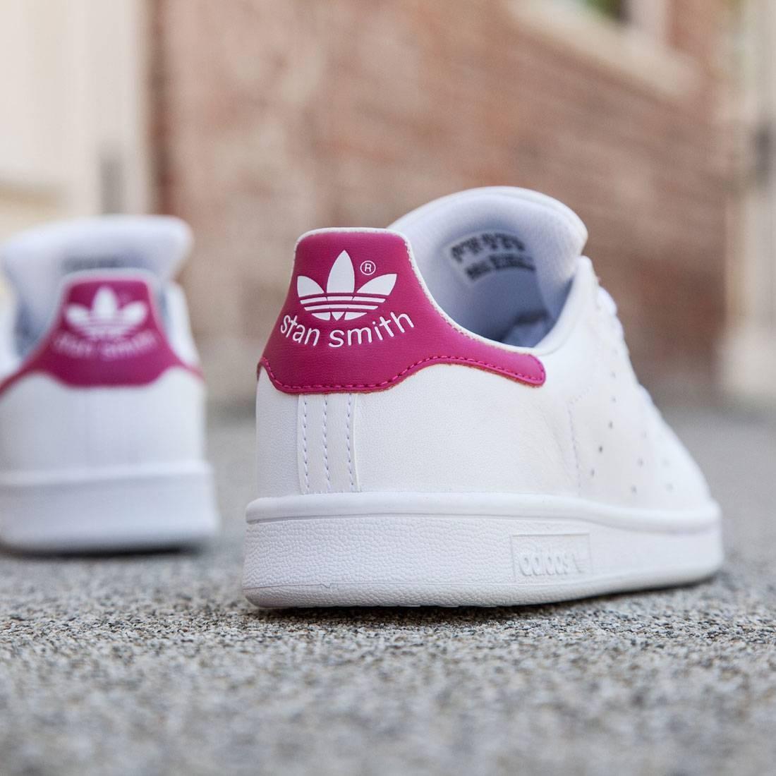 adidas ragazzi bianchi / stan smith (grassetto bianco rosa