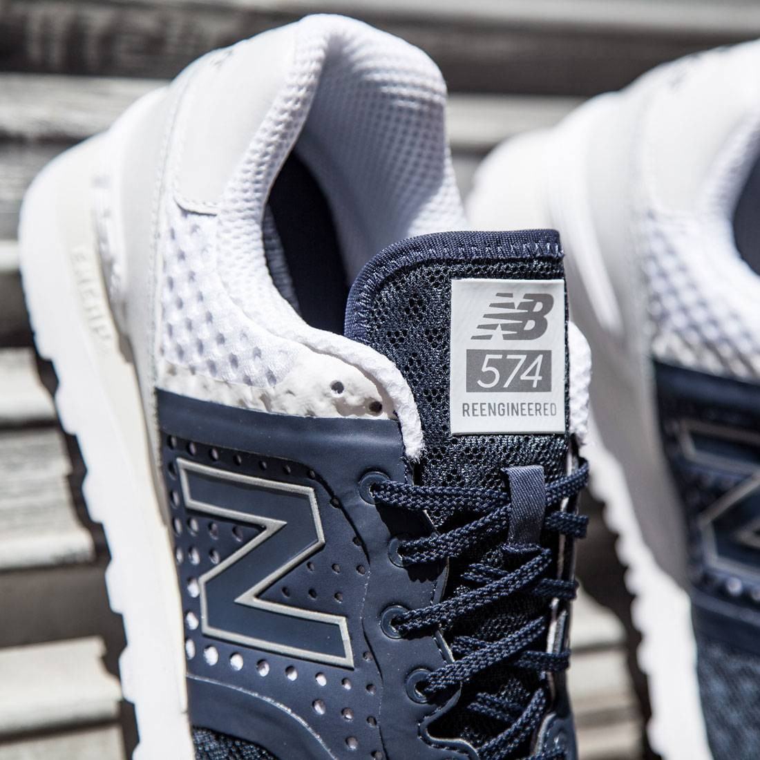 9fc4306bad8 New Balance Men 574 Re-engineered Breathe MTL574MN (navy / white)