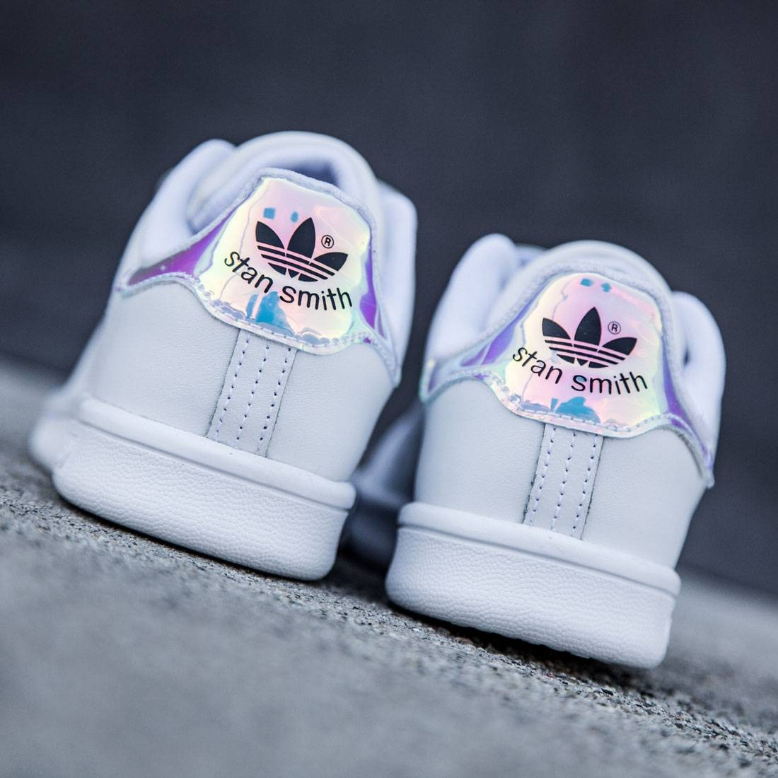 reputable site 56144 349d8 Adidas Little Kids Stan Smith (silver / metallic silver / footwear white)
