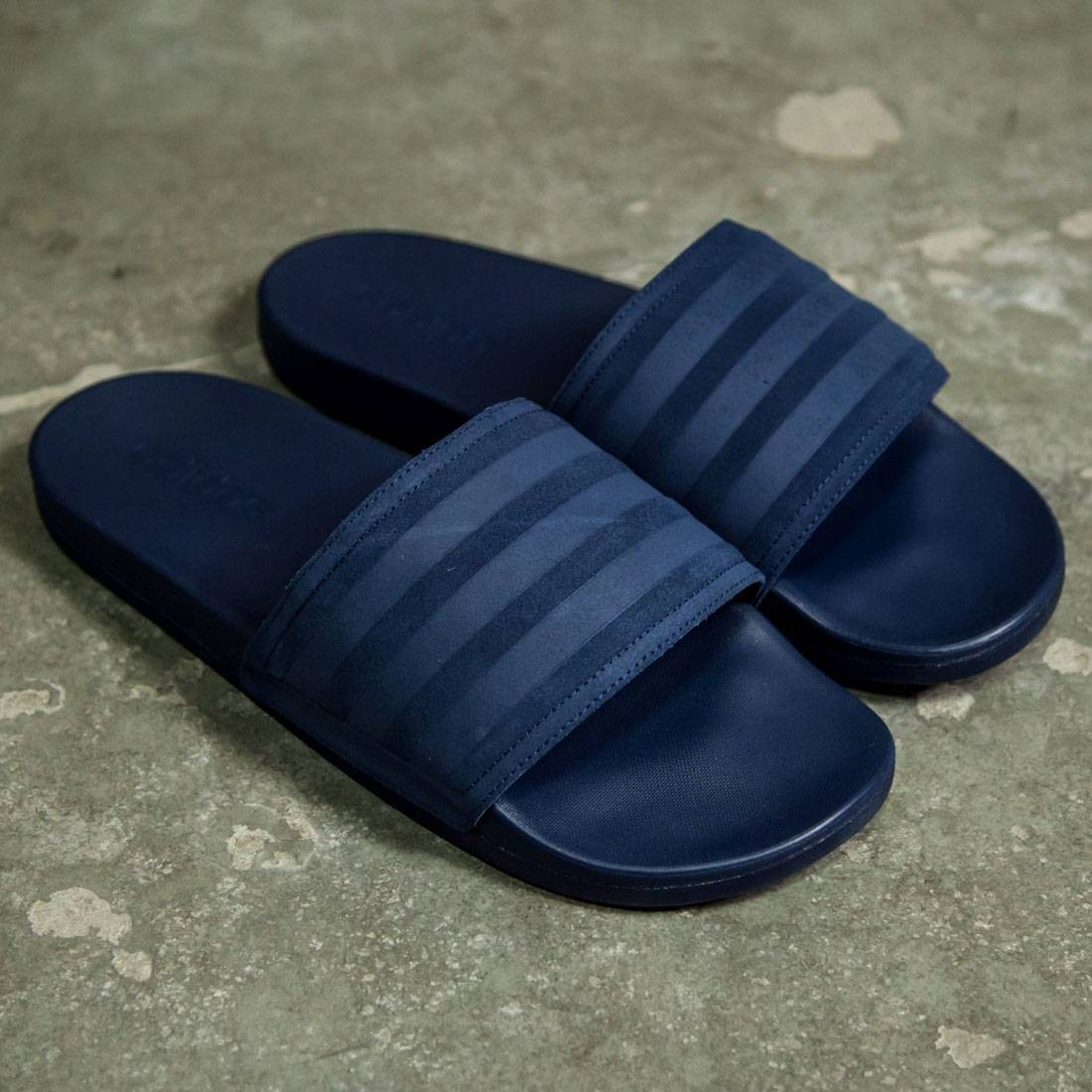 ff02237ef89b Adidas Men Adilette CF+ Explorer Slide (navy   collegiate navy)