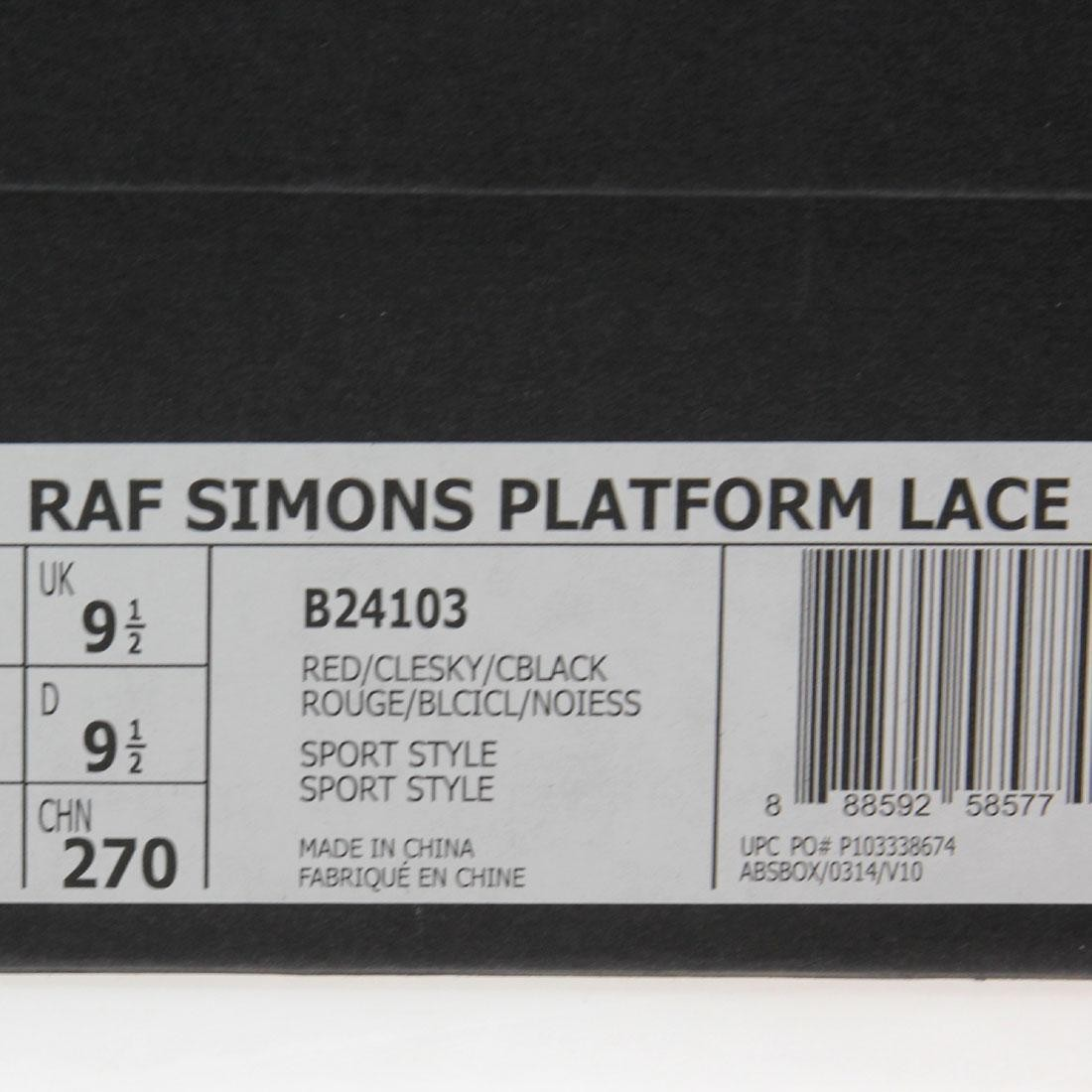 buy popular 12b99 6ae7d Adidas x Raf Simons Men Platform Lace (red   sky blue   black)