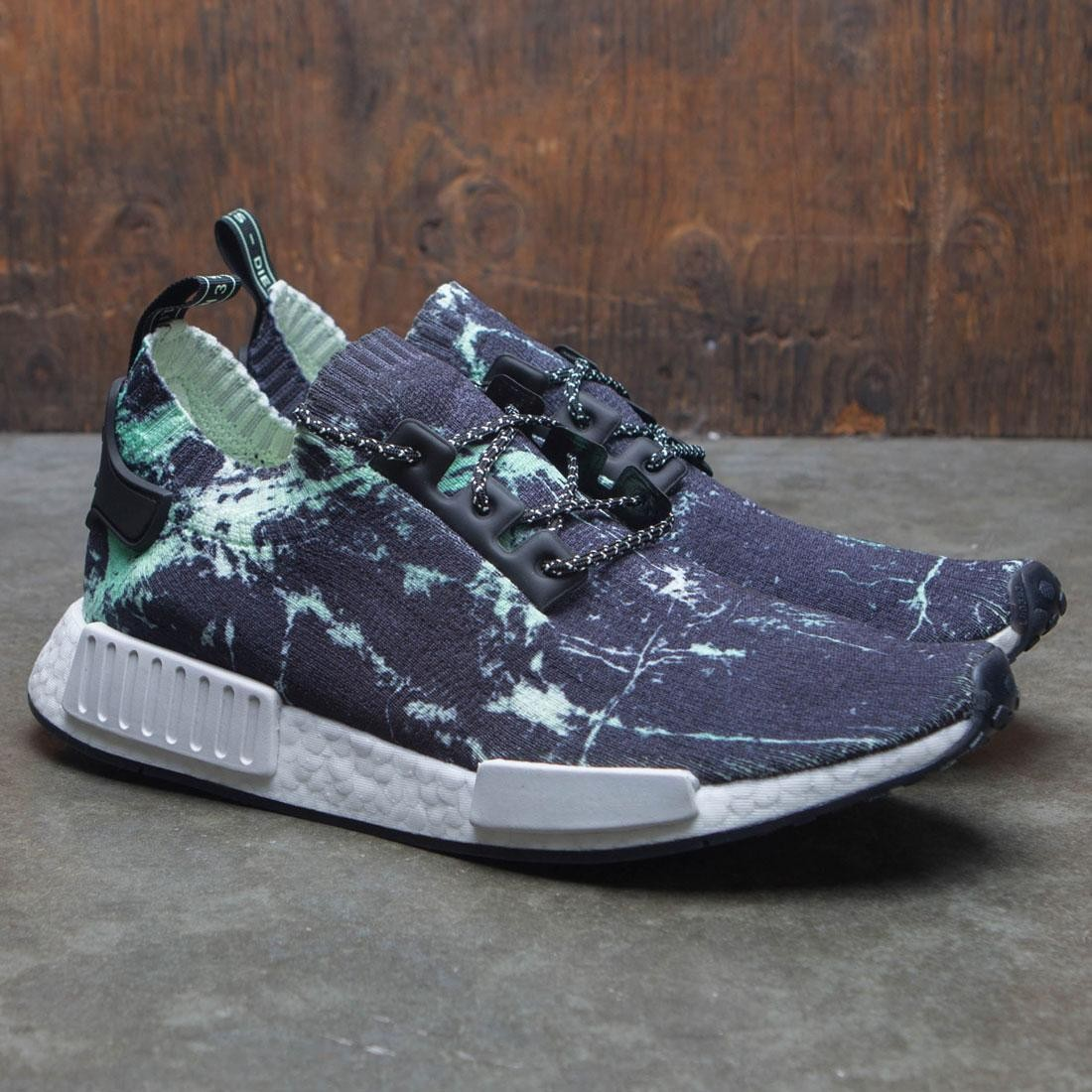 10ed8dc30b Adidas Men NMD R1 PK - Marble (black   footwear white   aero green)