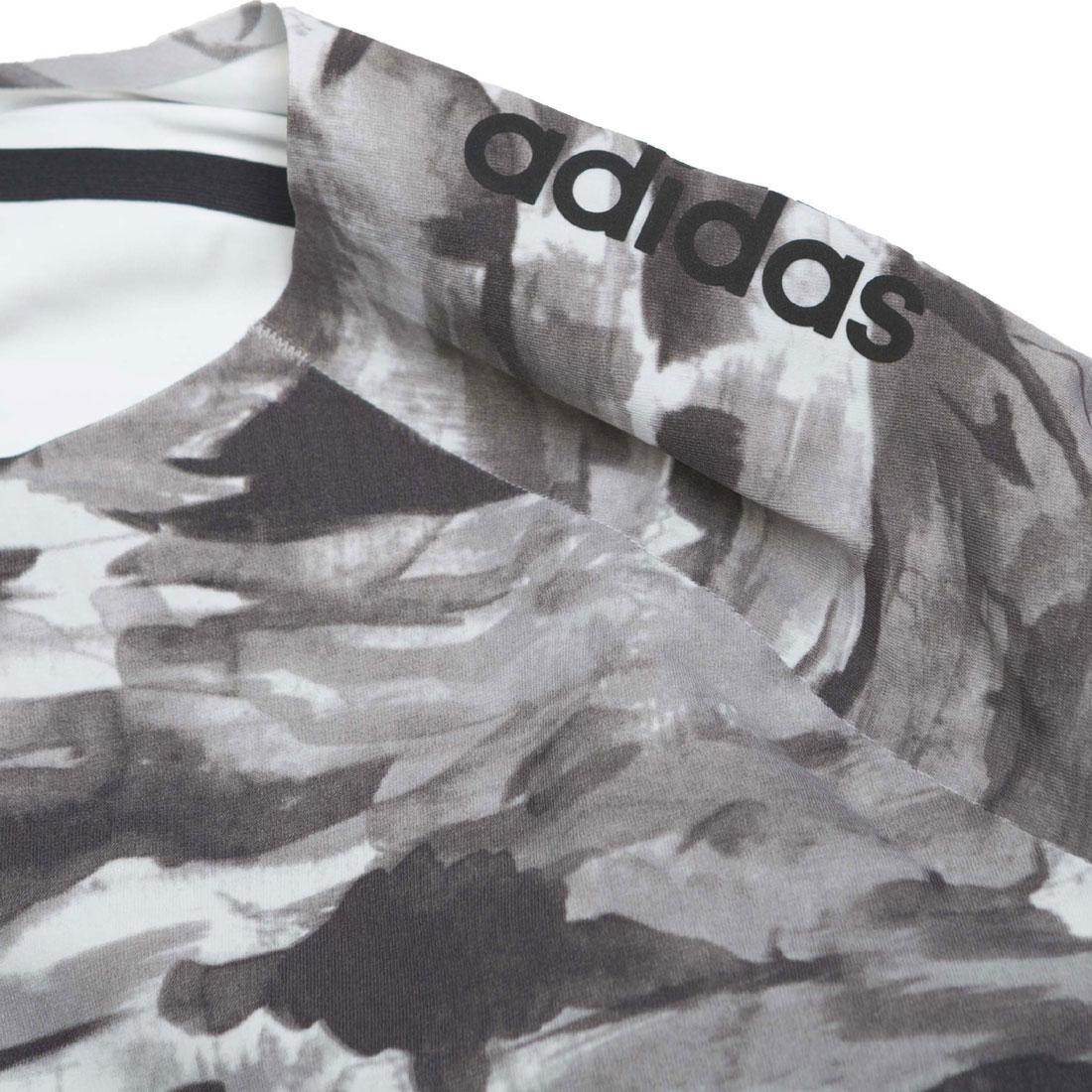 e1e3844da92cb Adidas x Undefeated Men Alphaskin 360 1/1 Top Long Sleeve Tee (black / white  / shift grey)