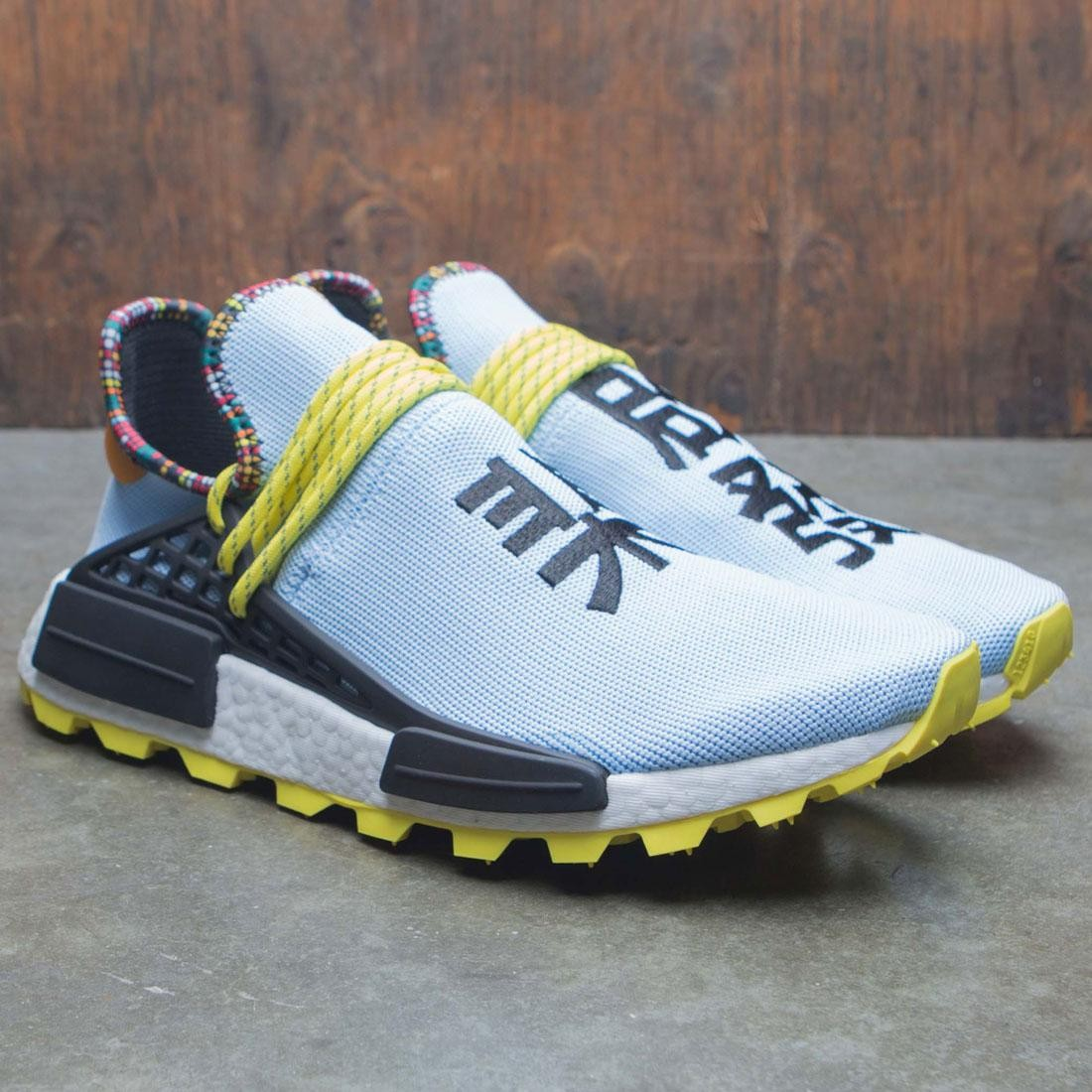 new arrival c9e72 58aee Adidas x Pharrell Williams Men Solar HU NMD (blue   core black   bright  orange)