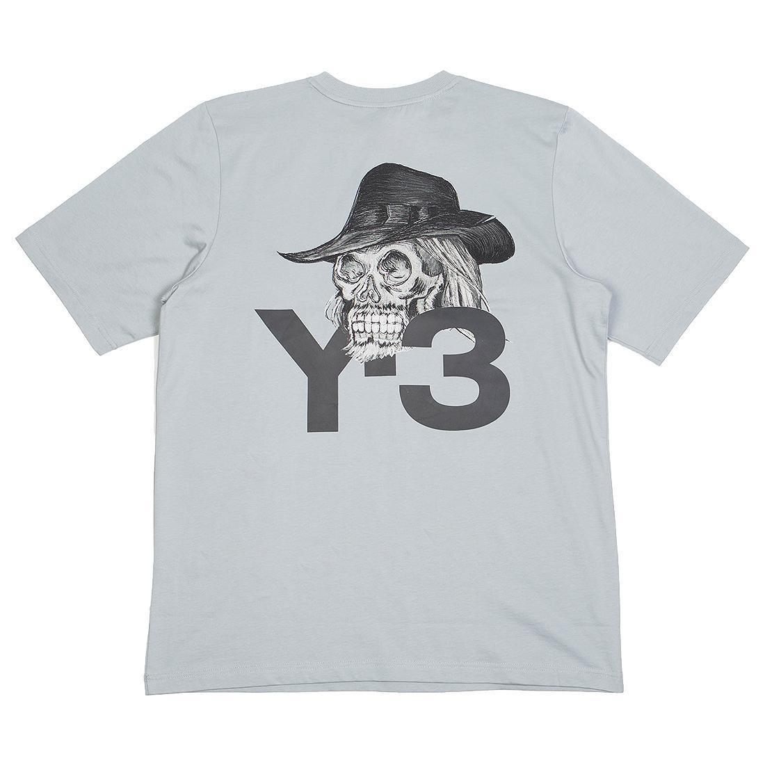 b9e26fbb2 Adidas Y-3 Men Yohji Skull Short Sleeve Tee (gray / kumo grey)