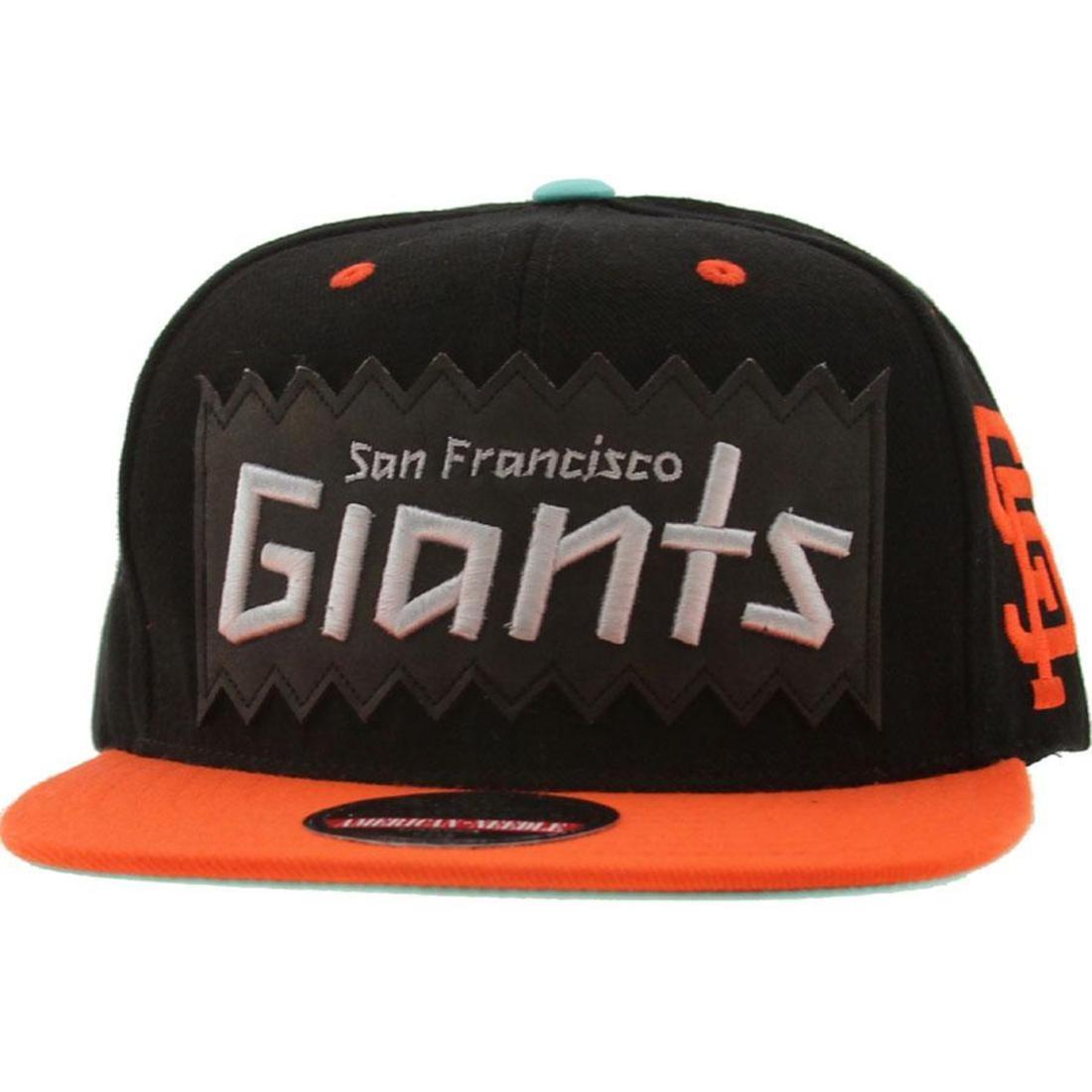 50905677550 BAIT x MLB x American Needle San Francisco Giants Retro Snapback Cap (black    orange)