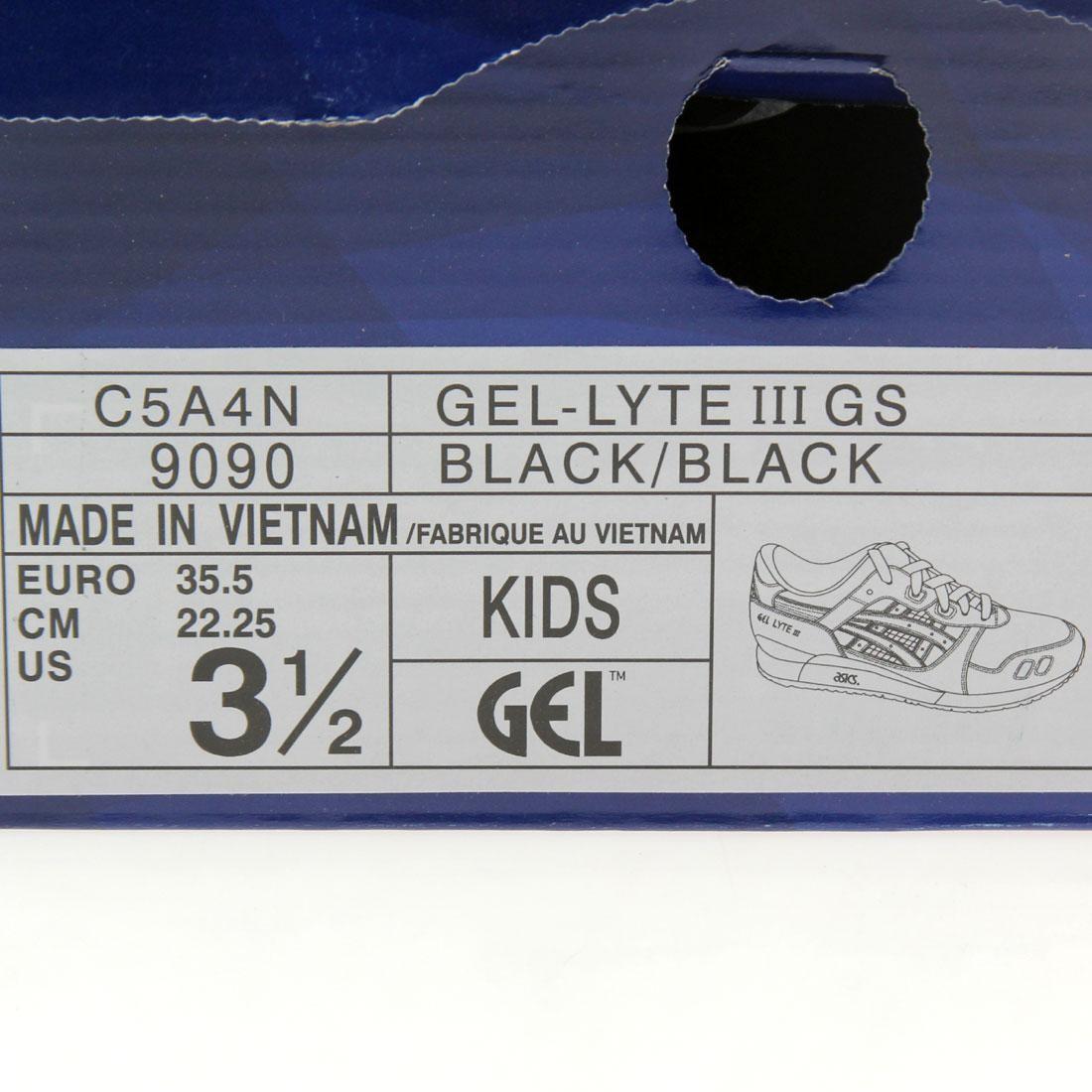 Asics Big Kids Gel Lyte III GS black C5A4N-9090
