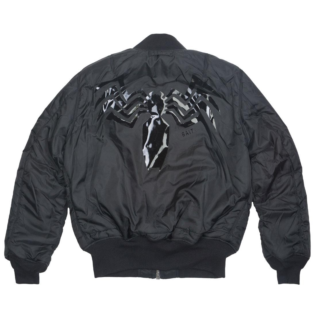 another chance 77518 befd9 BAIT x Marvel x Alpha Industries Men MA1 Venom Reversible Jacket (black)
