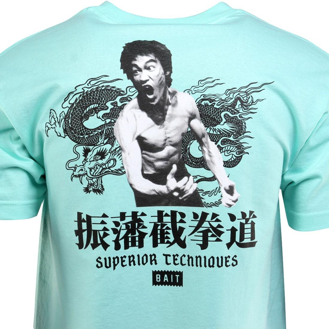 BAIT x Bruce Lee Superior Techniques Tee teal // celadon // black
