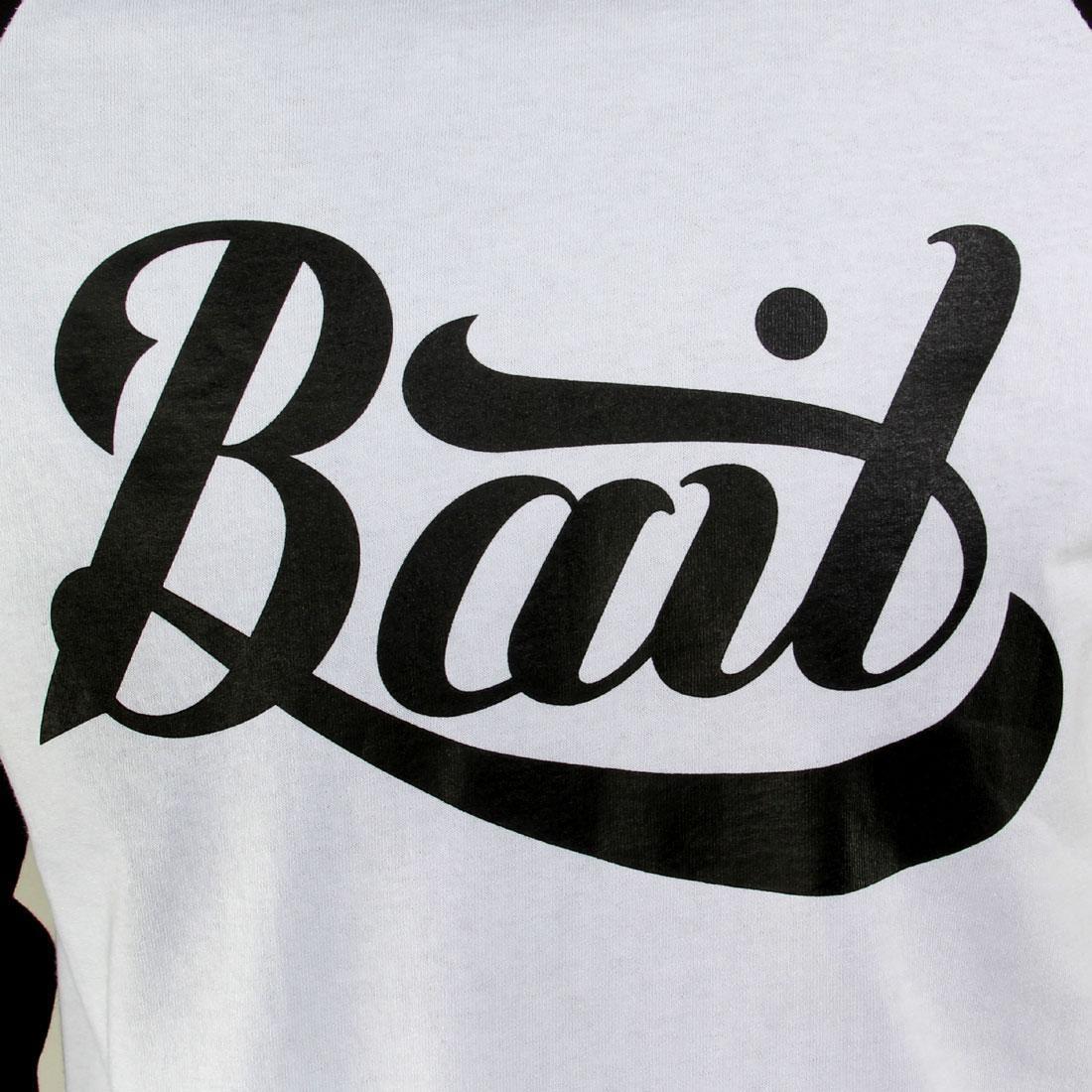 BAIT Logo Raglan Tee white // black // black