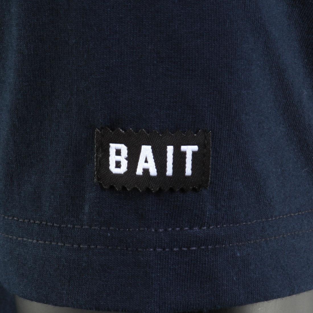 BAIT Script Logo Tee navy // orange