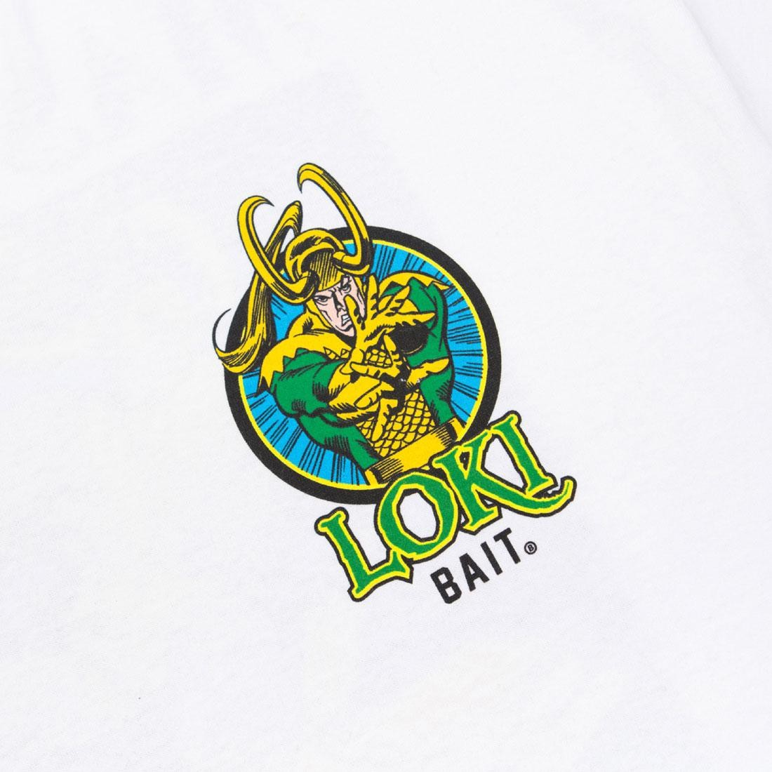 Bait X Marvel Comics Men Loki Master Of Mischief Tee White
