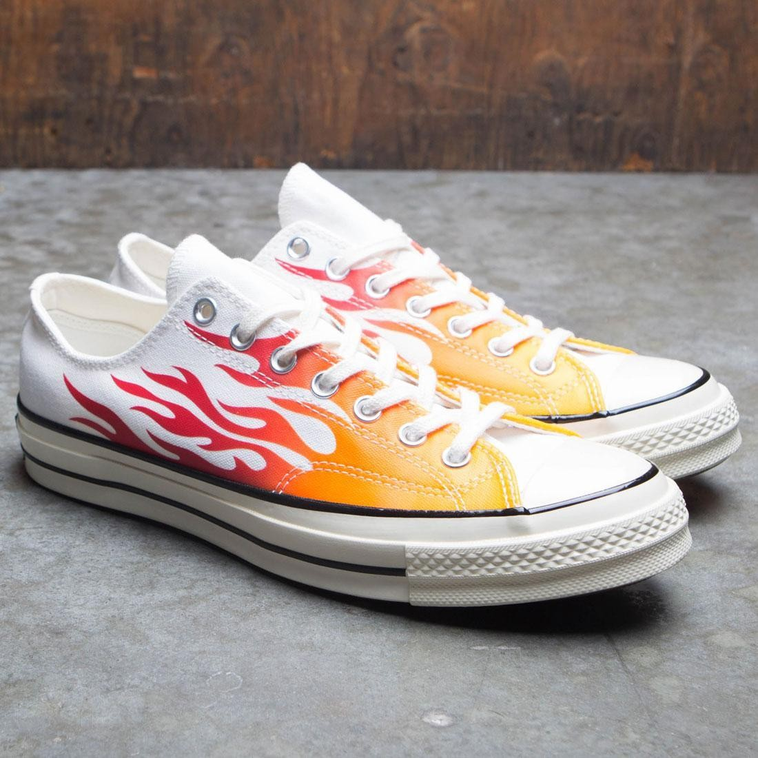 Converse Chuck Taylor 1970s Ox Flames White, Enamel Red