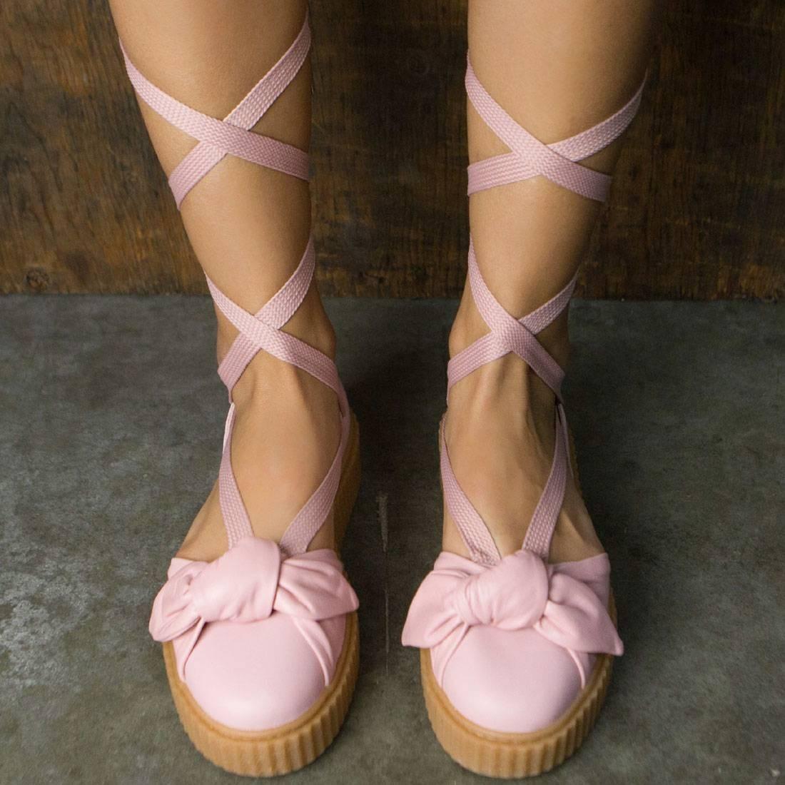 5c43867bc029 Puma x Fenty By Rihanna Women Bow Creeper Sandal (silver   pink   oatmeal)