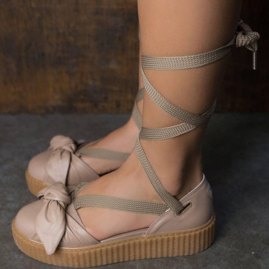 252d41121ddf07 Puma x Fenty By Rihanna Women Bow Creeper Sandal (natural   oatmeal)