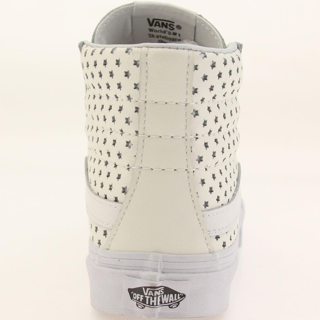 9f9cc09cf8 Vans Women Sk8-Hi Slim - Perf Stars (white   true white)
