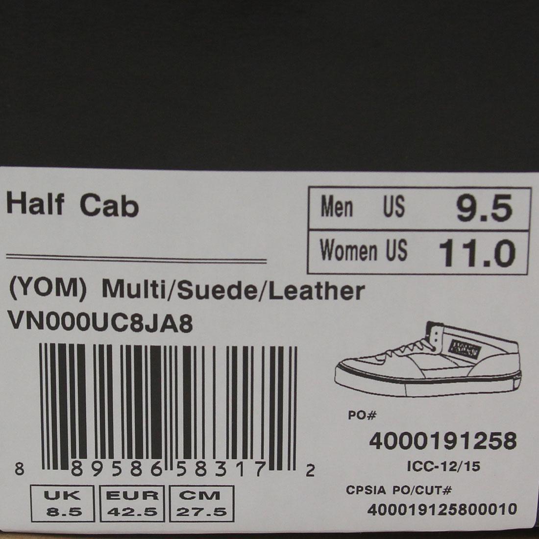 72d0af1633 Vans Men Half Cab - Year Of The Monkey (multi   suede)