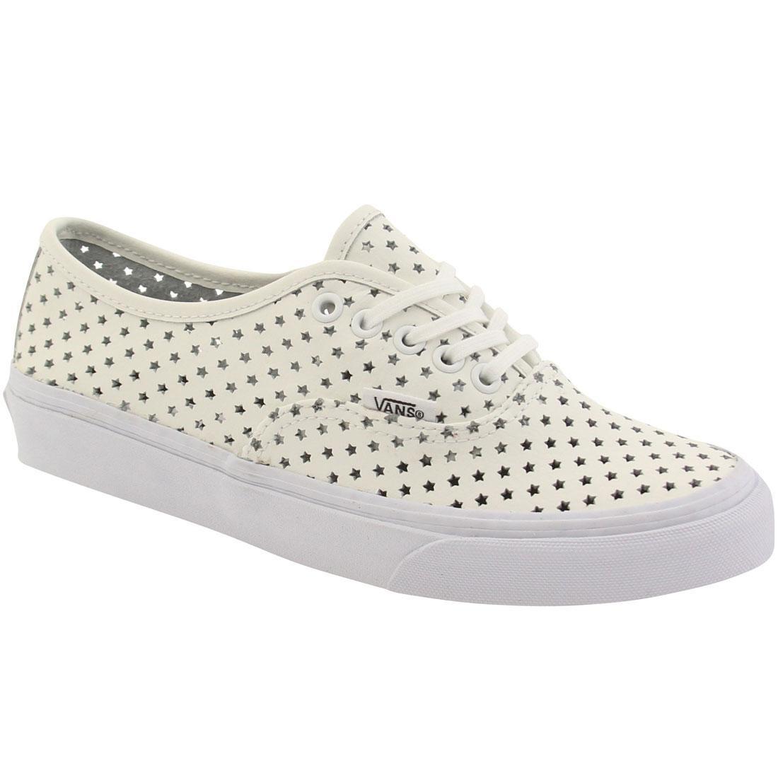 6a80750b94 Vans Women Authentic Slim - Perf Stars (white   true white)
