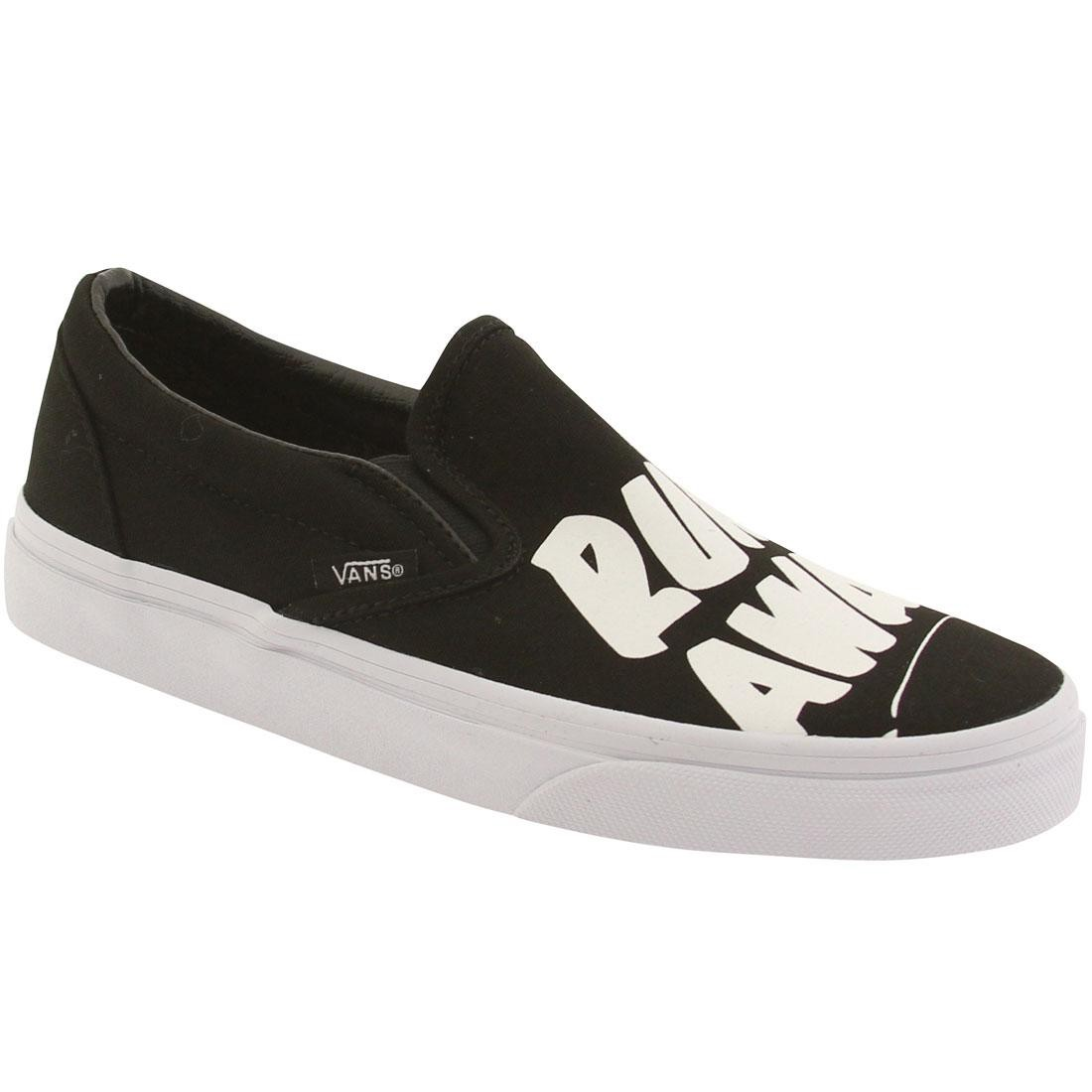 5ab74f41fd30 Vans Women Classic Slip-On - Baron Von Fancy (black   white)