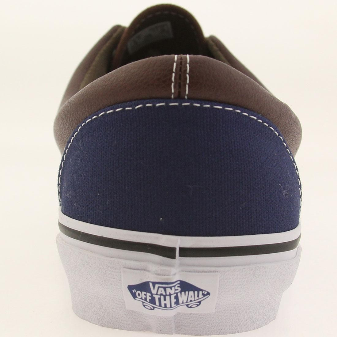 54617459a4 Vans Men Era - Leather Plaid (blue   estate   potting soil)