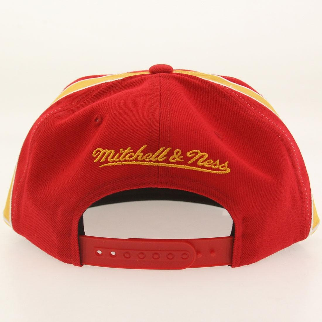 5eef7750b1cbf Mitchell And Ness Houston Rockets Blank Front Snapback Cap (red)