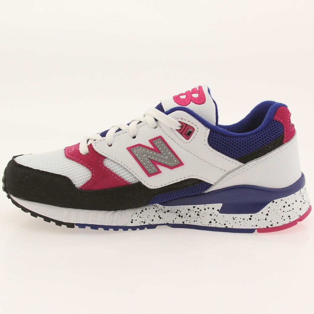 New Balance Women 530 90s Running Leather W530PSA (white black carnival pink)