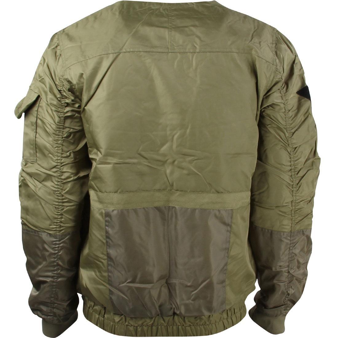 10 Deep Men Technician Aviator Jacket green army