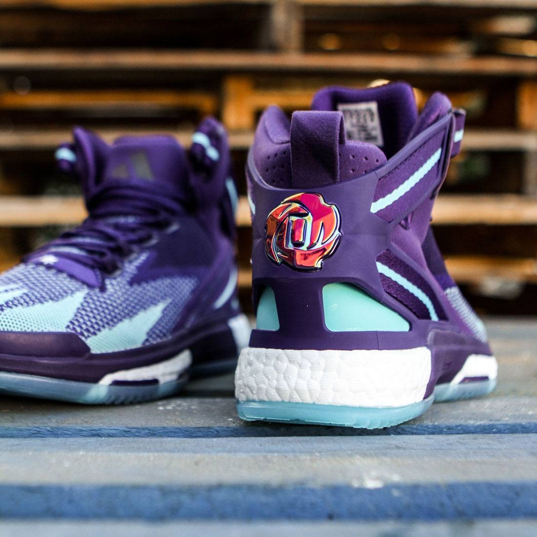 7cd69973de5e Adidas Men D Rose 6 Boost Primeknit (purple   dark purple   blast purple    blue glow)