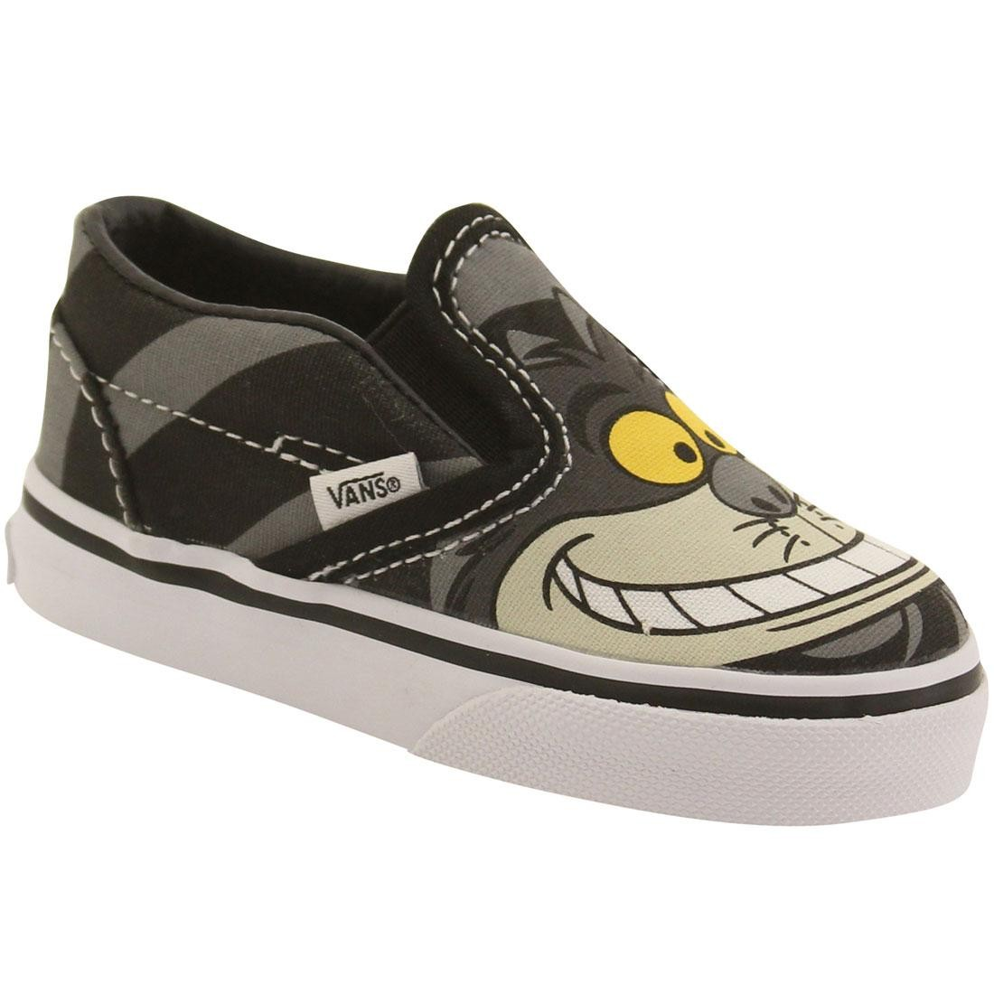 1f9b1e27b4 Vans x Disney Toddlers Classic Slip-On - Alice In Wonderland Cheshire Cat  (black)
