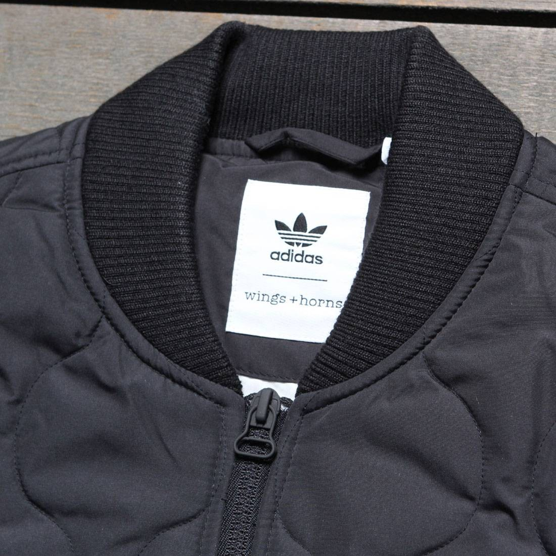 Adidas Consortium X Wings And Horns Men Insulated Bomber Jacket Black