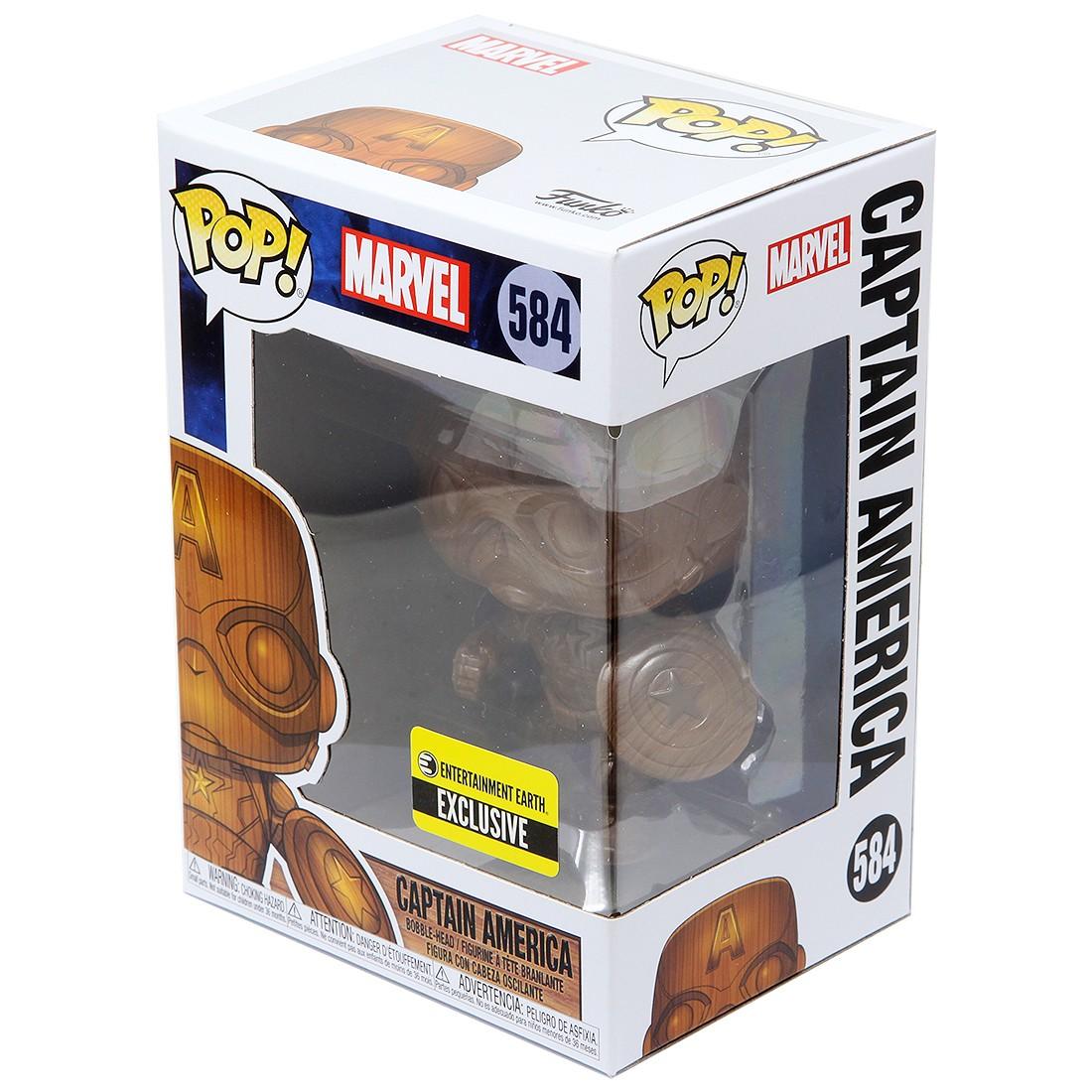 Captain America Wood Deco US Exclusive Pop Captain America Vinyl RS -FUN4...