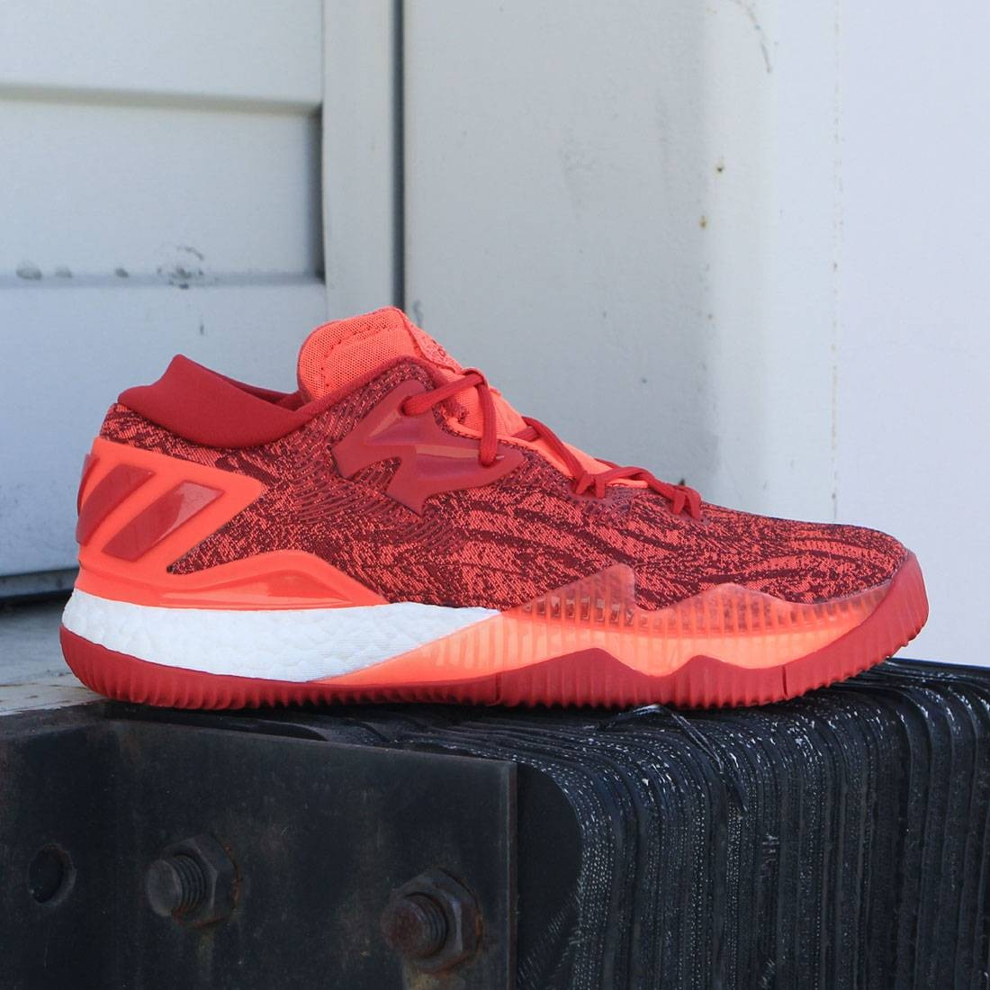 Adidas Men Crazylight Boost Low Red Solar Red Scarlet