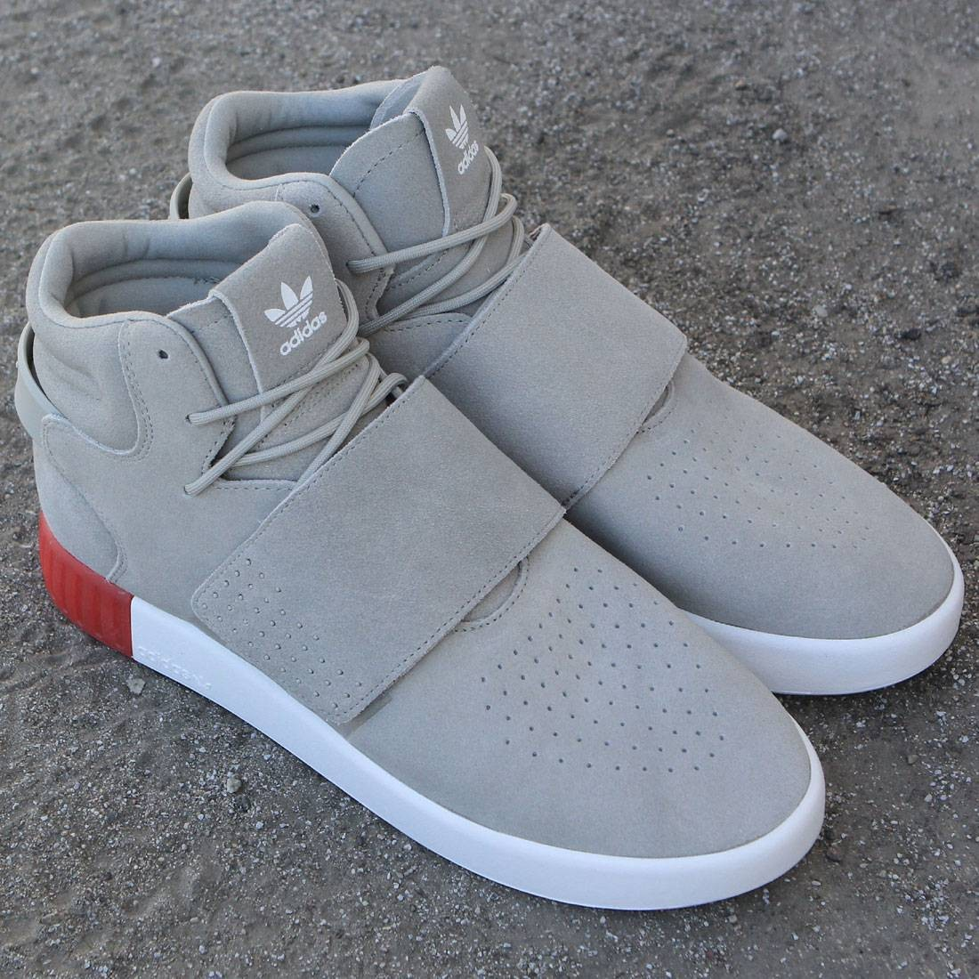 brand new 21de8 6eee0 Adidas Men Tubular Invader Strap (tan / sesame / vivid red)