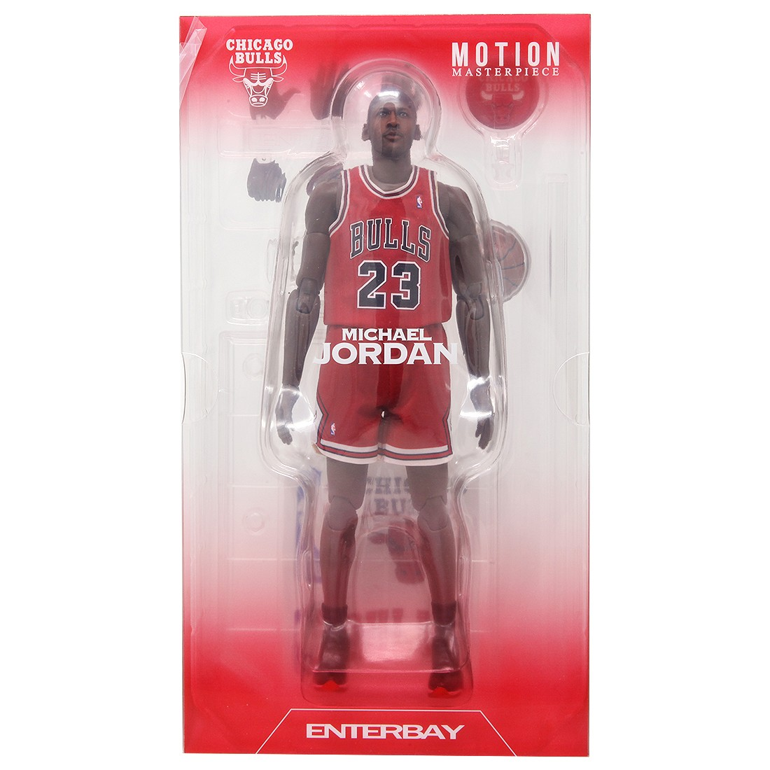 NBA x Enterbay Michael Jordan 1/9 Scale 9 Inch Figure red