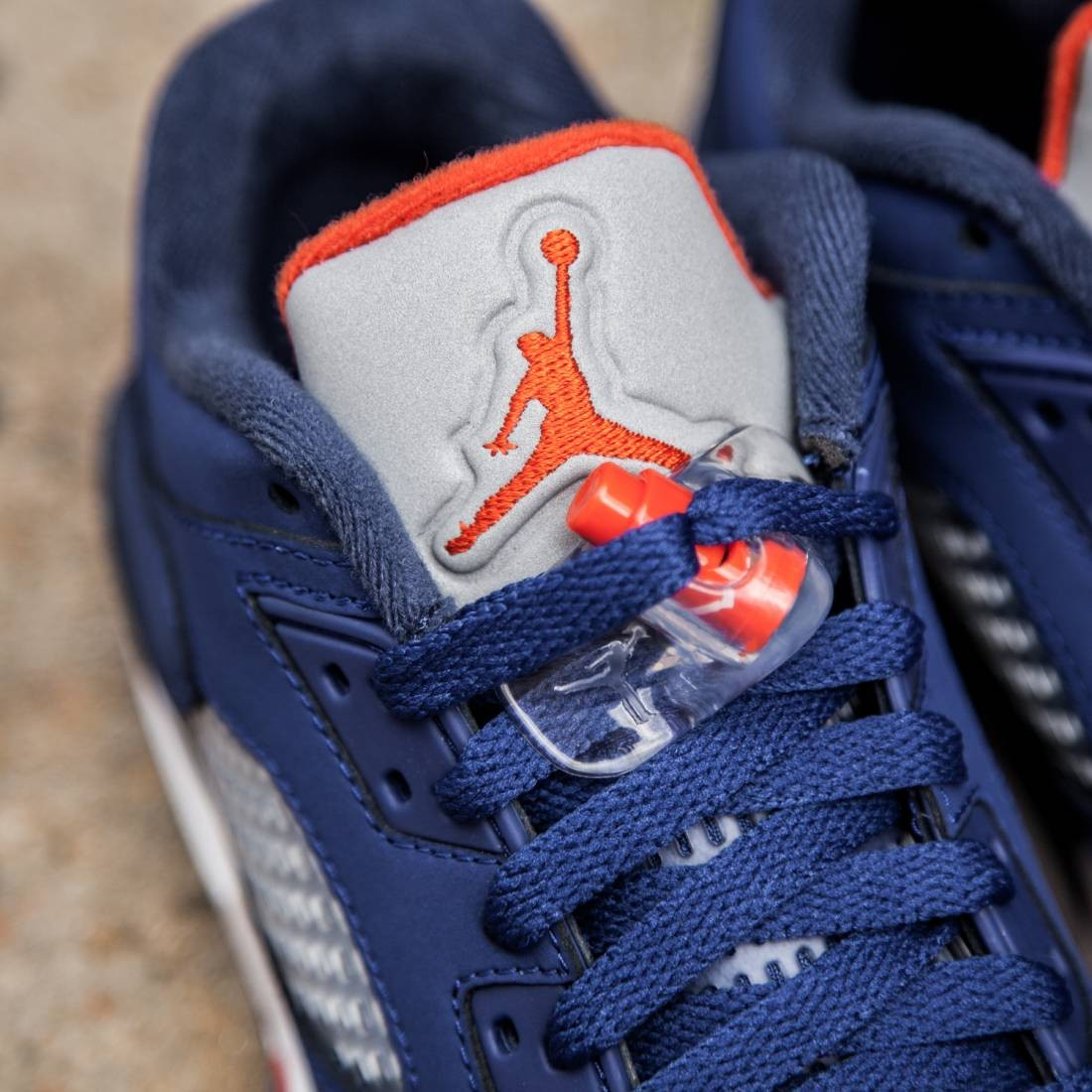 c28032f7b454 Air Jordan 5 Retro Low Knicks (GS) Big Kids (deep royal blue midnight  navy white team orange)