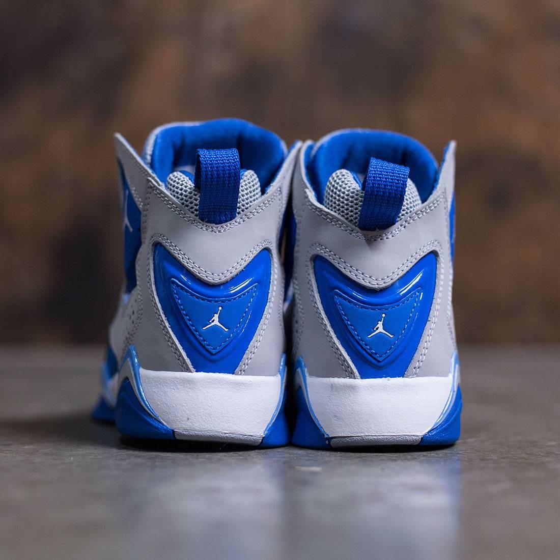 separation shoes b0c73 5b78b ... wholesale jordan big kids true flight gs wolf grey white blue spark  white b0ee2 41d11
