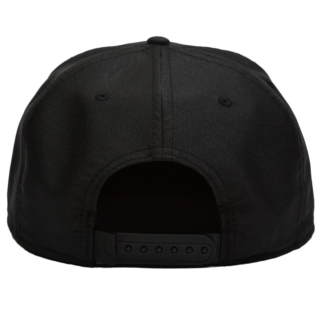 602ef30362219 Jordan Men Unisex Jumpman Elephant Print Ingot Pro Hat (black / black / gold )