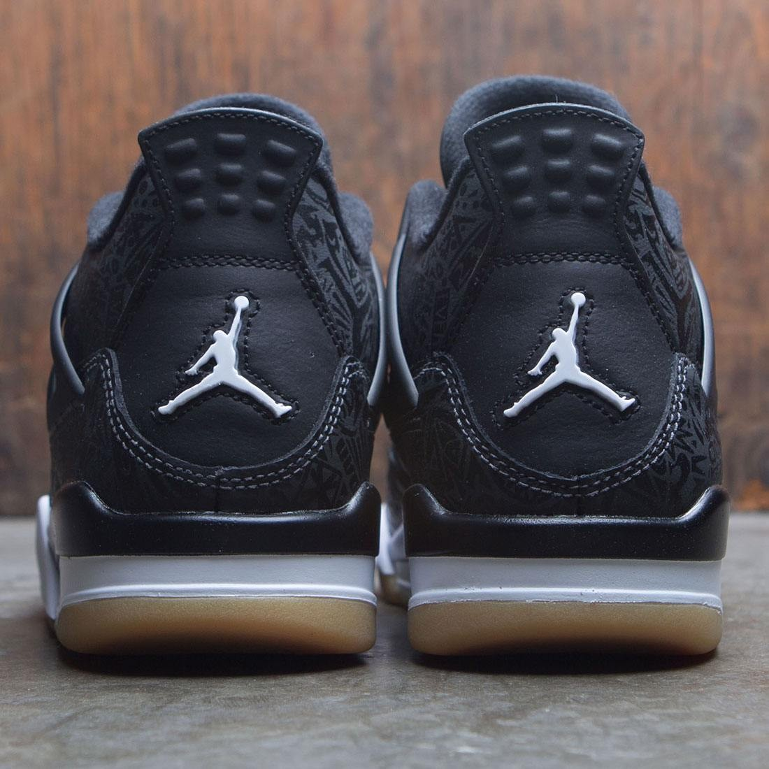 b7e63a9aff6 jordan big kids air jordan 4 retro se gs black white gum light brown
