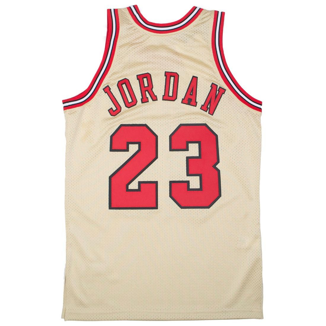 super popular 1be20 7ede3 Mitchell And Ness Men Chicago Bulls Michael Jordan Gold Jersey - 23 (gold /  red)