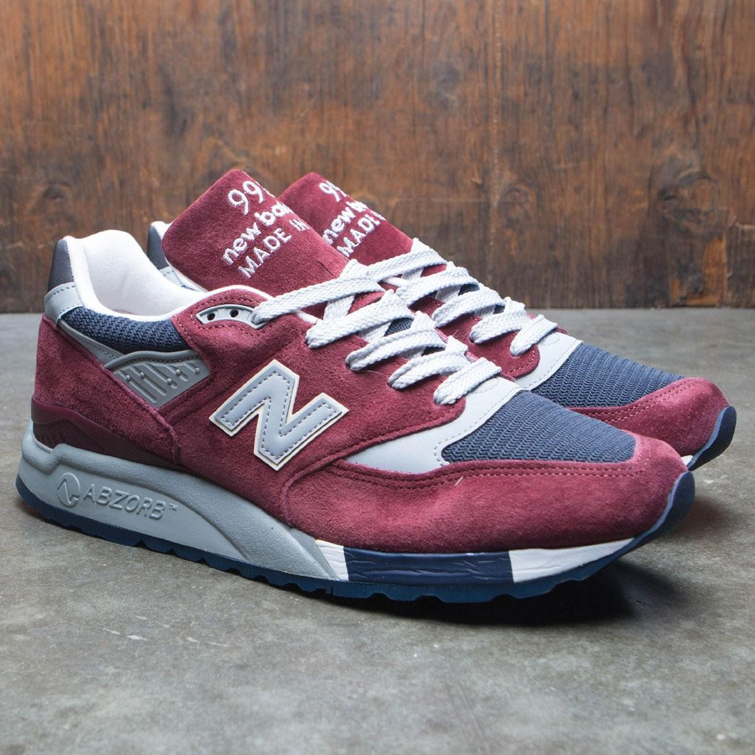 sneakers for cheap 4cebb 8a88c New Balance x J Crew Men 998 Port M998JB1 - Made In USA (burgundy / blue /  grey / white)