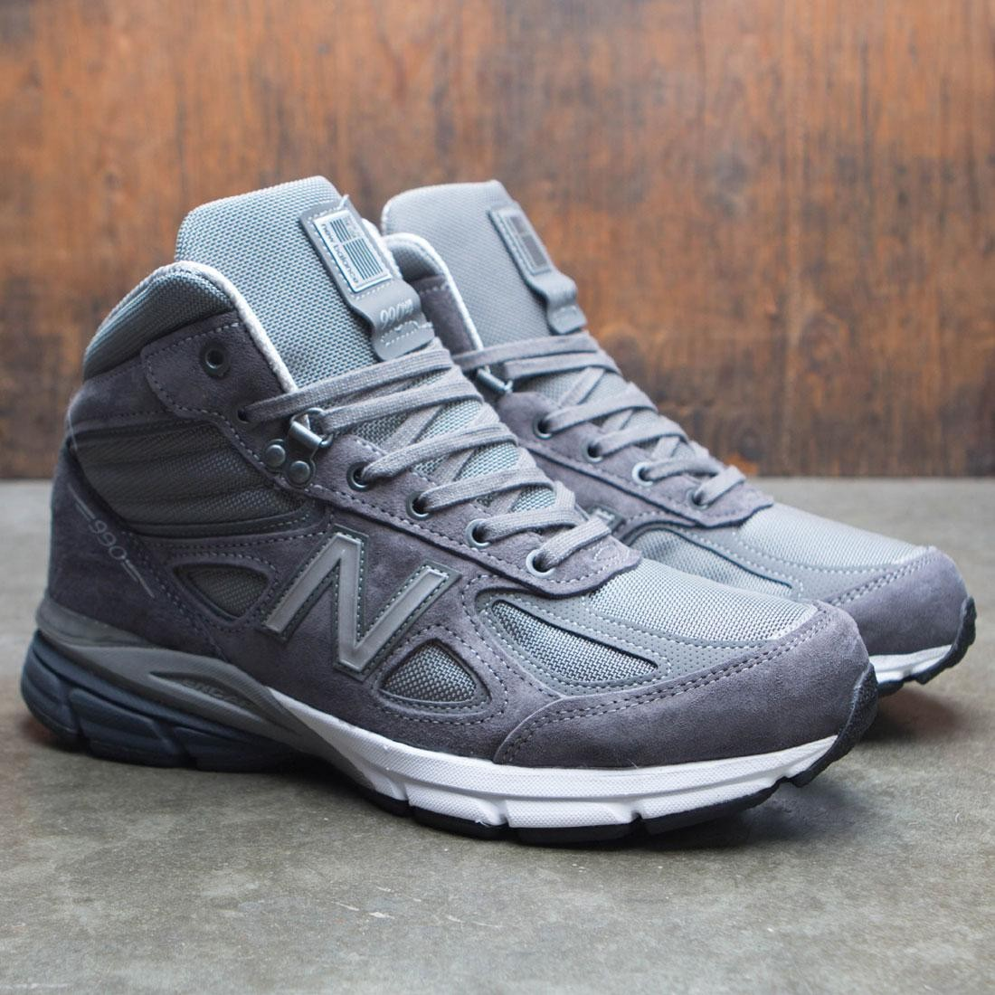 new style 38470 7e52a New Balance Men 990v4 Mid MO990GR4 - Made In USA (gray / black)