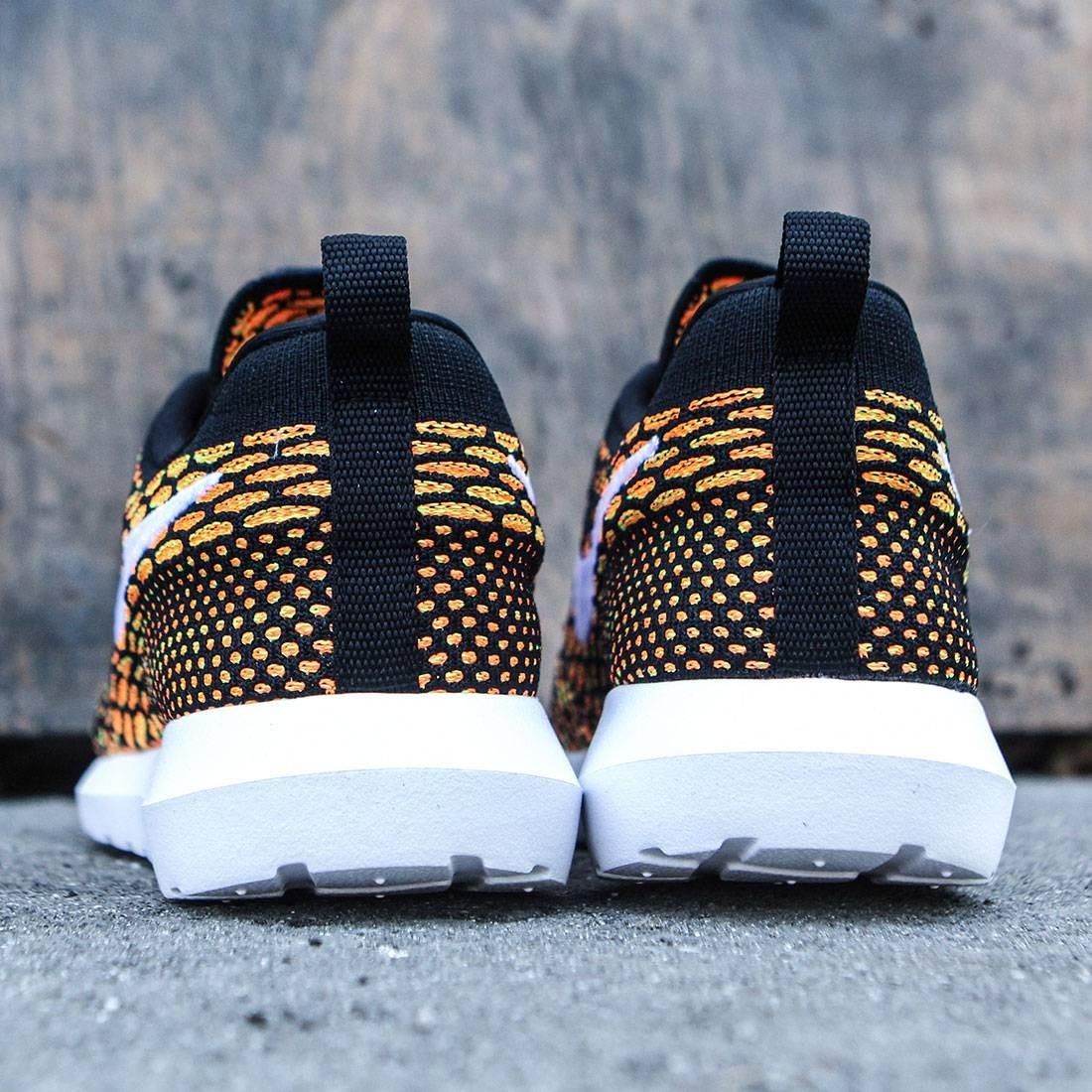 online store c7dcd 65c14 Nike Men Nike Roshe Nm Flyknit Shoe (black   white-total orange-volt)