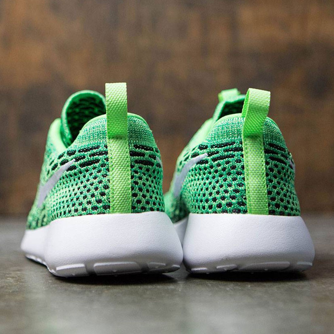 the latest 18aff 37818 Nike Women Roshe One Flyknit Shoe (voltage green   white-lucid green)