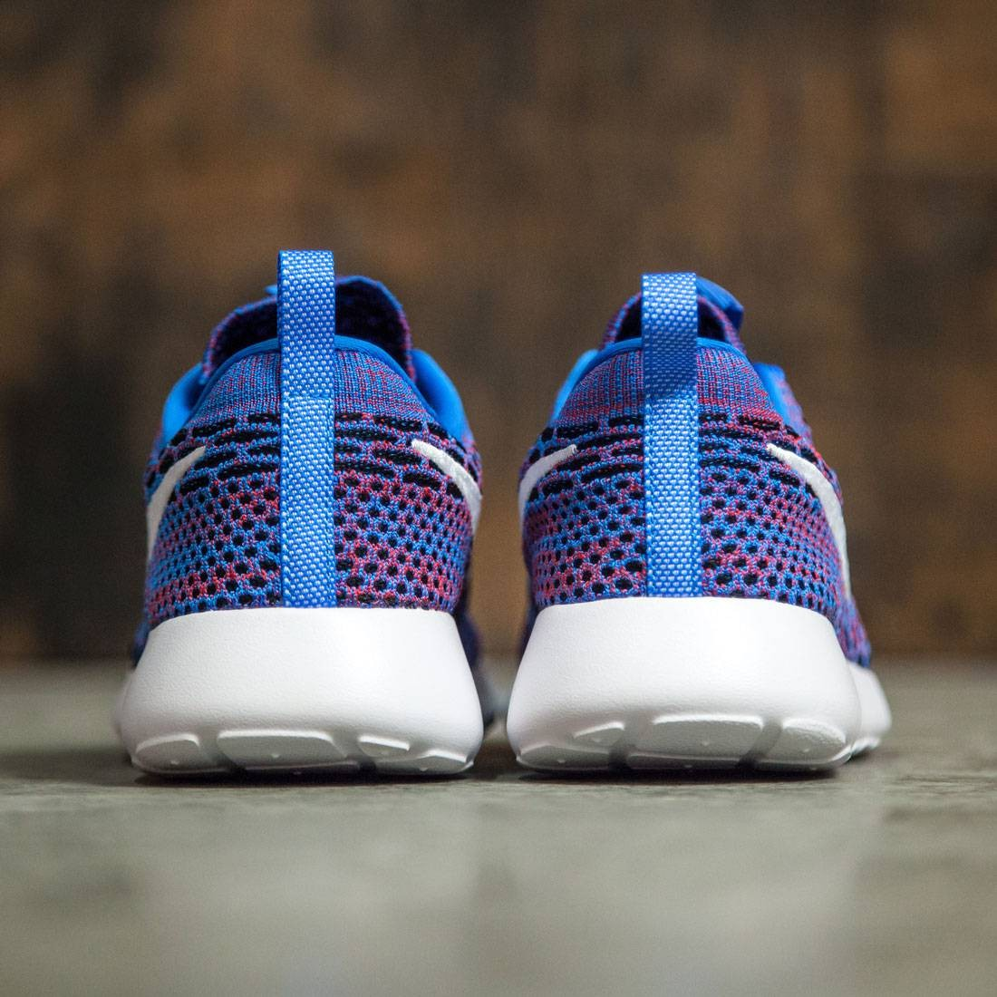 4d702c5a0f1d Nike Women Roshe One Flyknit Shoe (photo blue   white-university red-black)