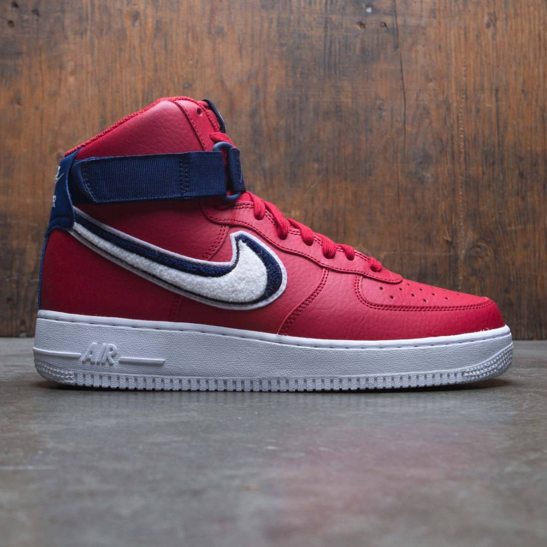 nike air force one high red white