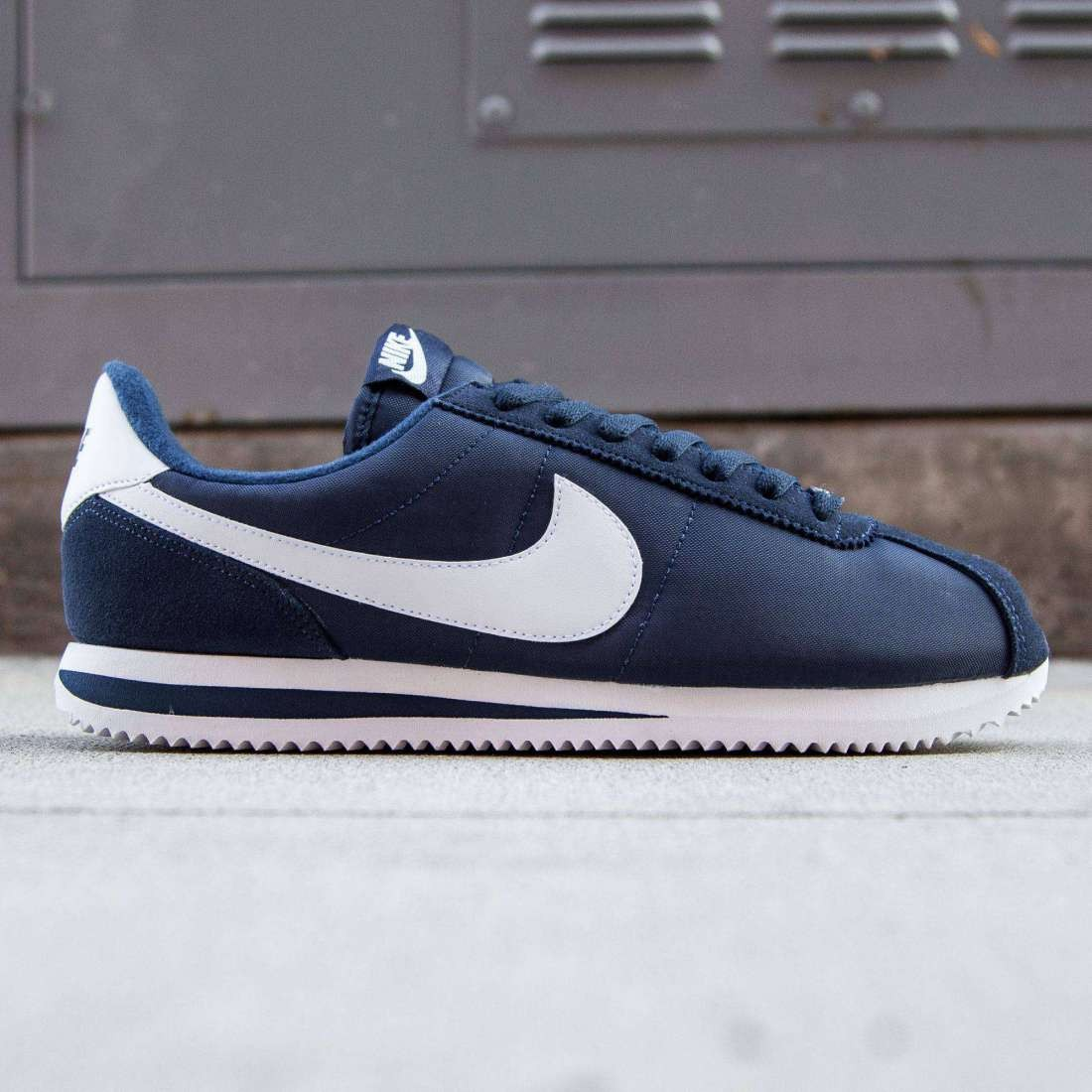 buy popular c3754 a8c86 nike cortez white and navy
